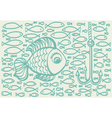 Cartoon drawing of big fish vector image