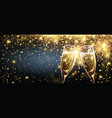 champagne with firework effect explosion of vector image