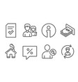 checked file find user and discount message icons vector image