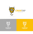 crane hook logo design template vector image vector image