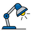 desk lamp icon design vector image vector image