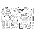 Doodle set of business vector image vector image