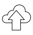 download in cloud thin line icon cloud with arrow vector image vector image