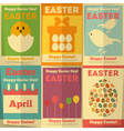 easter posters vector image vector image