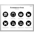 ecommerce icons rounded pack vector image vector image