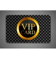 Elegant Dark VIP Card vector image