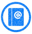 emails rounded grainy icon vector image