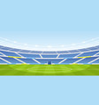 empty sports stadium vector image