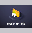 encrypted isometric icon isolated on color vector image vector image