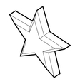Five pointed star icon outline style vector image