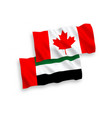 flags canada and united arab emirates