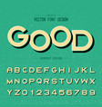 font and alphabet modren letter design vector image