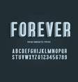forever vintage handcrafted 3d alphabet vector image vector image
