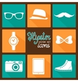 Hipster accessories pictograms set vector image vector image