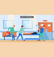 hospital ambulance flat composition