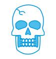 human skull symbol vector image vector image