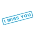 I Miss You Rubber Stamp vector image vector image