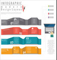 infographic modern design template 5 vector image vector image