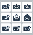 isolated mail icons set vector image