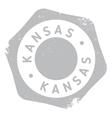 Kansas stamp rubber grunge vector image