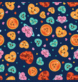 kawaii colorful love seamless pattern vector image vector image