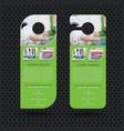 laundry services door hanger design template vector image vector image