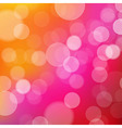 Lights Orange And Pink Background With Bokeh vector image vector image