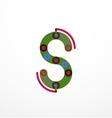 Linear letter concept vector image vector image