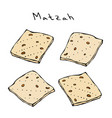 matzah or matzo unleavened bread for pesach vector image