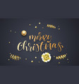 merry christmas greeting card template background vector image vector image
