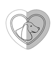 monochrome contour with middle shadow sticker with vector image vector image