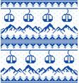 mountains and gondolas ski snowboard hiking vector image