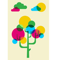 Mulicolored cactus tree made with bubbles vector image