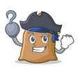 pirate sack character cartoon style vector image