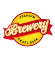 premium brewery sign vintage label vector image