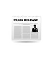press release vector image vector image