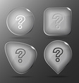 Query Glass buttons vector image vector image