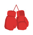 red boxing gloves isolated sports accessories on vector image