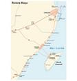riviera maya road map vector image vector image