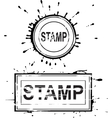 set grunge distressed stamps vector image