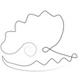 shell pearl one line vector image