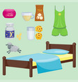 sleep icons set collection nap vector image