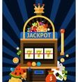 Slot machine concept vector image vector image