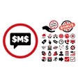 SMS Bubble Flat Icon with Bonus vector image