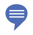speech bubble message vector image