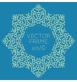 square flower frame for text images vector image vector image