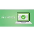 ssl certified protection vector image vector image