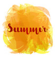 summer lettering on background imitation vector image