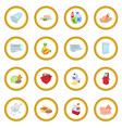 supermarket icon circle vector image vector image
