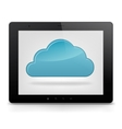 Tablet PC and cloud icon vector image